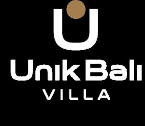 unik bali villa logo white gold 300x261