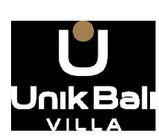 unik bali villa logo white gold