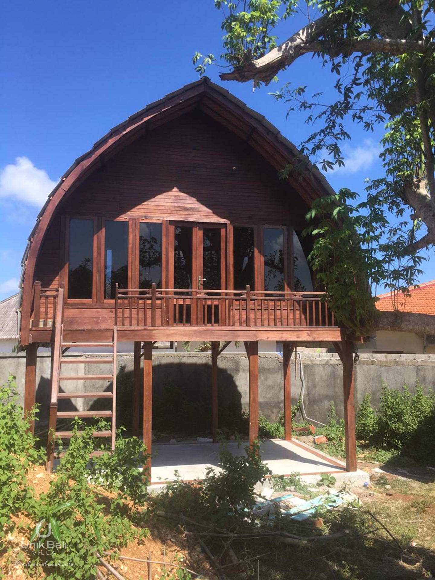 Unik Bali Villa For Sale Two Bungalows View Outside Front